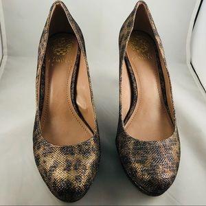 Brand New Vince Camuto Sparkle Leopard Heel